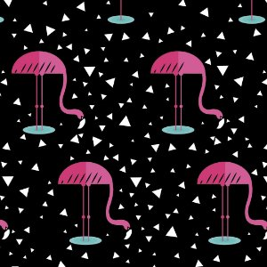 Papel de Parede Adesivo Casual Flamingo