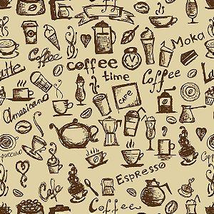 Papel de Parede Adesivo Casual Coffee