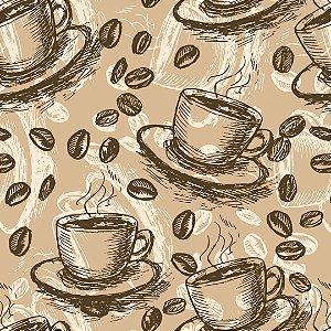 Papel de Parede Adesivo Casual Coffee Grãos