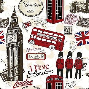Papel de Parede Adesivo Casual Love Londres