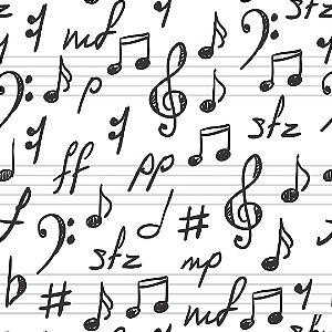 Papel de Parede Adesivo Casual Music