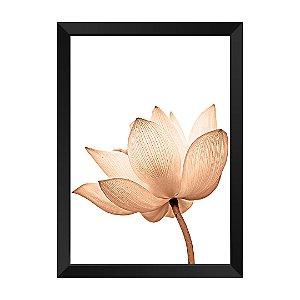 Quadro Flor Rose Gold Magia