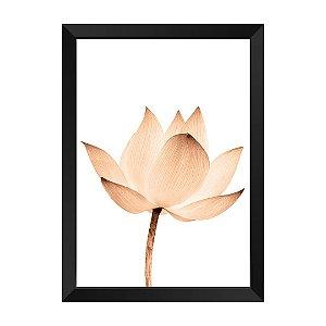 Quadro Flor Rose Gold Talismã