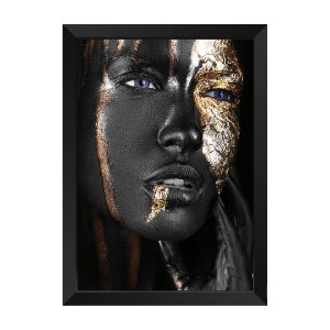 Quadro Mulher Negra e Dourada Jade