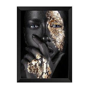 Quadro Mulher Negra e Dourada Rubi