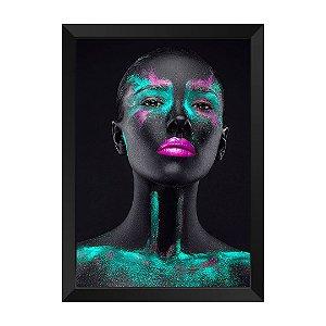 Quadro Mulher Negra Verde Rubi Rutilo