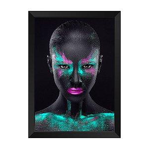 Quadro Mulher Negra Verde Rubi Peridoto