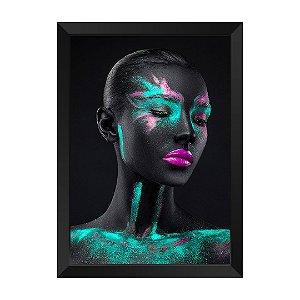 Quadro Mulher Negra Verde Rubi Citrino