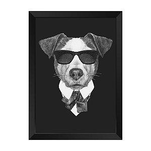Quadro Dog de Preto Agente K