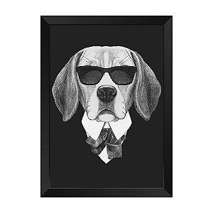 Quadro Dog de Preto Agente L