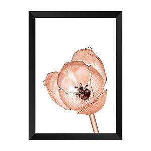 Quadro Flor RaioX Rose Gold Lume