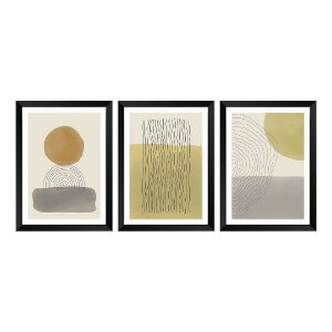 Kit de 3 Quadros Decorativos Sand