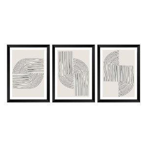 Kit de 3 Quadros Decorativos Minimalist