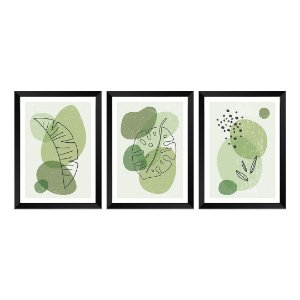 Kit de 3 Quadros Decorativos Nature