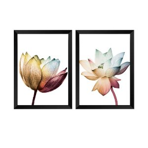 Kit de 2 Quadros Decorativos Flores Elegance Duo