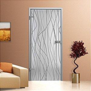 Adesivo jateado raw para portas de 60 a 100 cm de largura (altura até 215 cm)