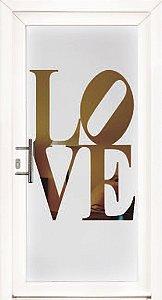 Adesivo jateado love  1,90x0,80 cm