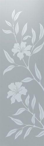 PERSONALIZADO - Adesivo Jateado - Floral - Flor1 182x067 cm