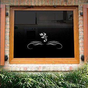 Adesivo jateado decorativo para portas, janelas e box 50x17 cm  181
