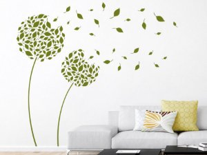 Adesivo Decorativo Floral com Folhas ao Vento 89x 140cm  21201