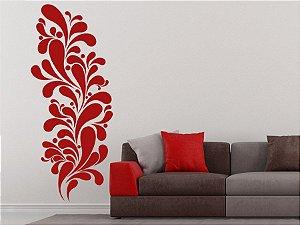Adesivo Decorativo de Parede Ornamento em Curvas 50x120cm