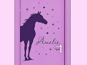 Adesivo Decorativo de Parede Cavalo e Estrelas 49x90 cm 18701