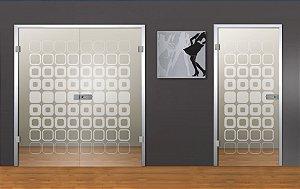 Adesivo jateado nichos - 172x074 cm (serve para qualquer porta ou janela)