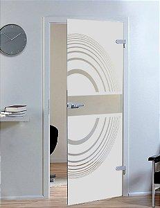 Adesivo jateado riscas - 100 cm larg. X 2,15 alt. (serve para qualquer porta ou janela)