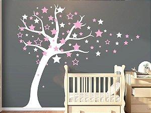 Adesivo de parede - Árvore de Estrelas