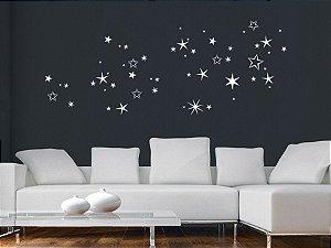 Adesivo de parede - Conjunto de Estrelas