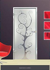 DUPLICADO - Adesivo jateado árvore 210x080 cm