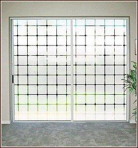 Adesivo Jateado - Para Portas, Janelas e Divisórias - 210x080 cm