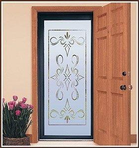 Adesivo Decorativo Jateado para portas, janelas, box, vidros em geral de largura de 50  a 100 cm