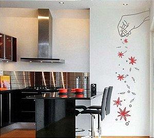 Adesivo decorativo de parede 100x40 cm