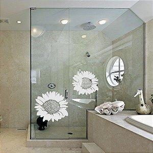 Adesivo decorativo Jateado - Girassol  - 036x040 cm