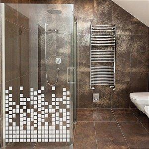 Adesivo decorativo Jateado - blocos - 100x100 cm
