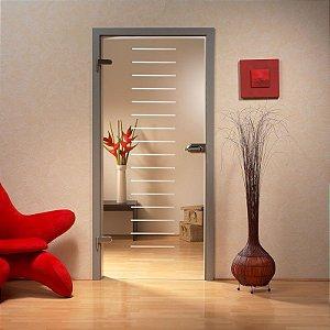 Adesivo decorativo jateado para portas - 030x210 - Consulte outras medidas