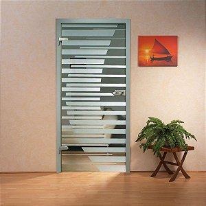Adesivo decorativo jateado para portas - 2,15x0,80 cm