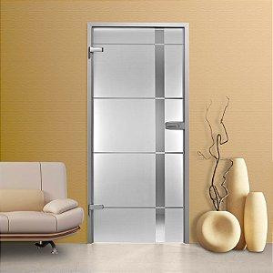 Adesivo jateado para portas - 2,15x1,00m (para porta de largura  até 100 cm)