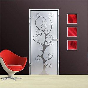 Adesivo decorativo jateado para portas - 210x100cm - para portas de 50 a 100cm