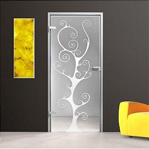 Adesivo decorativo jateado para portas - 210x0,60