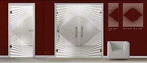 Kit de adesivo jateado 235 x 100 cm e 35x100 cm