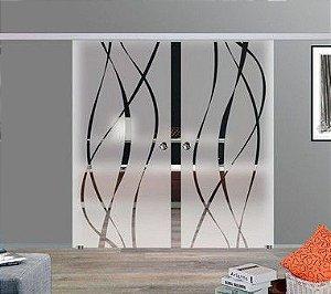 PERSONALIZADO - Kitt Adesivo Decorativo Jateado 1 un. 194x092 e 2 un. 600x060 cm