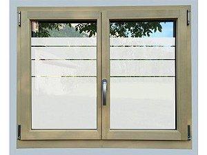 Adesivo jateado vazado faixas para vidros 100x048 cm
