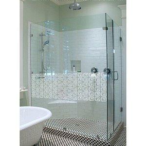 Adesivo jateado fosco para portas, divisórias, janelas e box do banheiro 40 cm altura x 150 cm largura