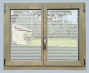 Kit Adesivo jateado vazado persiana para vidros 95x45 e 53x45