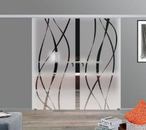 Adesivo decorativo jateado 225x100 cm