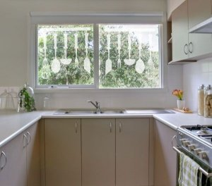 Kit com 2 cartelas de adesivo fosco de cozinha 40x40 cm cada
