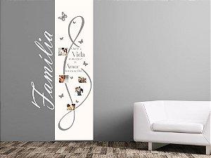 Adesivo Decorativo para Paredes - 200x085 cm - Familia