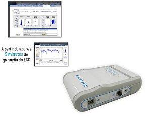 Eletrocardiógrafo ECGPC TEB Com módulo de Variabilidade de Frequência Cardíaca - VFC